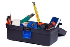 Box full of instruments Royalty Free Stock Image