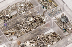 Box full of jewelry accessories Royalty Free Stock Photo