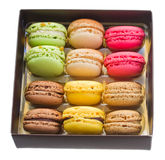 Box full of  macaroons Royalty Free Stock Image