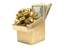 The box full of money Royalty Free Stock Image