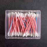 Box Full Of Cotton Swabs Royalty Free Stock Photos