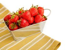 Box full of strawberries Stock Photography