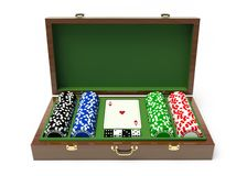 Box for a gambling chips Royalty Free Stock Images