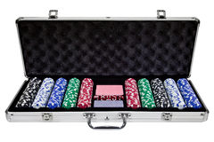 Box Gambling Chips Stock Image