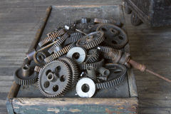 Box of gears Stock Images