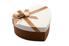 Box  gift. Brown gift box on a white background Royalty Free Stock Photo