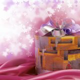 Box with a gift Royalty Free Stock Photo