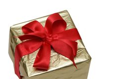 Box of the gift. Isolated on a white background Royalty Free Stock Photography