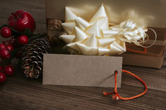 Box of gift of christmas Royalty Free Stock Photo