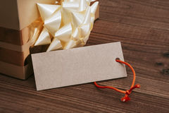 Box of gift of christmas Royalty Free Stock Photography