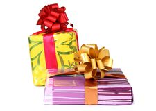 Box for gift eight Royalty Free Stock Photography