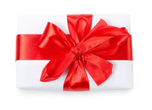 Box with a gift with a red tape Stock Images