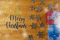 BOX gift  and small gift wrapped , presents and Christmas ,  man Stock Photo