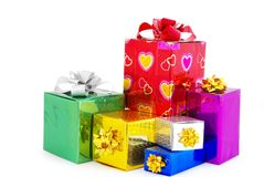 Box gifts Royalty Free Stock Photo