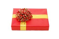Box with gifts Stock Images