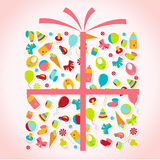 The box with the gifts. Royalty Free Stock Images