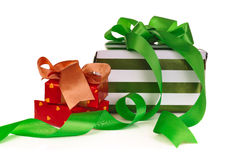 Box gifts Royalty Free Stock Photos