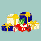 Box gifts. Boxes with gifts Stock Image