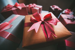 Box with gifts. Royalty Free Stock Image