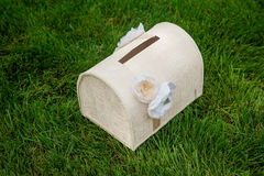Box for gifts for a wedding Royalty Free Stock Photos
