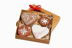 Box with ginger biscuits Stock Image