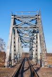 BOX-GIRDER火车桥梁钢。 库存图片