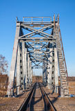 BOX-GIRDER TRAIN BRIDGE STEEL. Stock Images