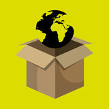 Box global globe Royalty Free Stock Images