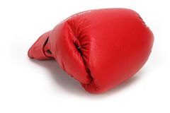 Box Gloves. Red Boxing Gloves Royalty Free Stock Images