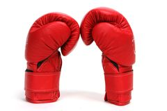 Box Gloves. Red Boxing Gloves Stock Images