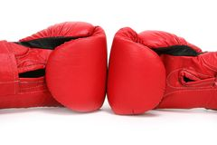 Box Gloves. Red Boxing Gloves Royalty Free Stock Photo