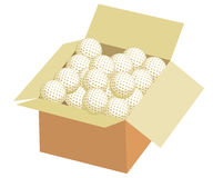 Box of golf ball Stock Photos