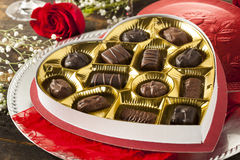 Box of Gourmet Chocolates for Valentine's Day Stock Images