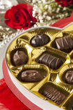 Box of Gourmet Chocolates for Valentine's Day Stock Photography