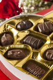Box of Gourmet Chocolates for Valentine's Day Royalty Free Stock Photo