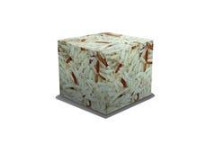 Box of grain rice on white background Stock Image