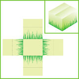 Box with grass Stock Image