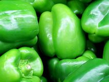 Box of green peppers Royalty Free Stock Images
