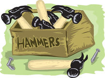 Box of Hammers Royalty Free Stock Photography