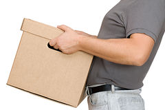 Box in hand Stock Image