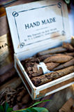 Box of hand made cigars Stock Image