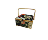 Box with handle. For storage of various small sewing Royalty Free Stock Image