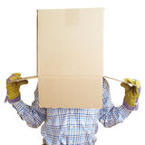 Box on the head Stock Photo