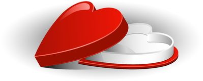 Box heart Royalty Free Stock Images