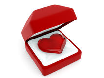 Box with heart Stock Images