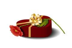 Box-heart and poppy Stock Image