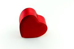 Box in heart shape. On white background Royalty Free Stock Image