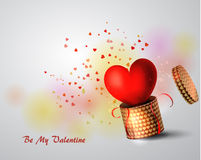 Box With Heart. On white Background, Vector Illustration Royalty Free Stock Image
