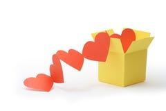 Box With Hearts Royalty Free Stock Photos