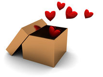 Box with hearts Royalty Free Stock Photography